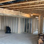 Inside of a house with installation being fitted.